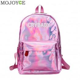707.78 руб. 32% СКИДКА Мини дорожные сумки Серебряный Синий Розовый лазерный рюкзак женская сумка для девочек из искусственной кожи голографический рюкзак школьные сумки для девочек подростков купить на AliExpress