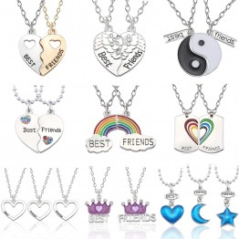 US $0.71 35% OFF|Best Friend Necklace Women Crystal Heart Tai Chi Crown Best Friends Forever Necklaces Pendants Friendship BFF Jewelry Collier-in Pendant Necklaces from Jewelry & Accessories on Aliexpress.com | Alibaba Group