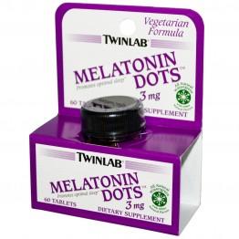 Twinlab, Melatonin Dots, 3 mg, 60 Tablets