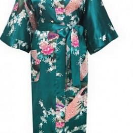 460.21 руб. 50% СКИДКА Фирменная Новинка длинный халат атлас, искусственный шелк пижама халат для Для женщин кимоно пижамы цветок плюс Размеры S XXXL S02D-in Халаты from Нижнее белье и пижамы on Aliexpress.com   Alibaba Group