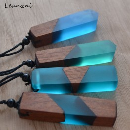 US $1.19 39% OFF|Leanzni Vintage men'woman s fashionable wood resin necklace pendant, woven rope chain, hot   selling jewelry gifts -in Pendant Necklaces from Jewelry & Accessories on Aliexpress.com | Alibaba Group