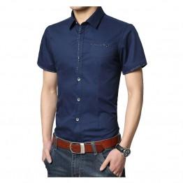 326.42 руб. 40% СКИДКА|2019 мужские рубашки платья рубашки тонкий твердый с коротким рукавом для мужчин рубашки хлопок рубашка мужская повседневная брендовая одежда размер M 5XL-in Классические рубашки from Мужская одежда on Aliexpress.com | Alibaba Group