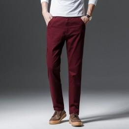 721.86 руб. 40% СКИДКА 2019 осень и зима новый для мужчин бутик хлопок сплошной цвет Мода Вышивка Бизнес повседневные штаны вельвет узкие брюки-in Повседневные брюки from Мужская одежда on Aliexpress.com   Alibaba Group