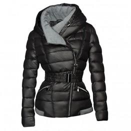 € 26.51 52% de réduction 2019 hiver manteaux femmes Parkas coton chaud épais court veste manteau avec ceinture Slim décontracté zipper gothique noir survêtement pardessus-in Parkas from Mode Femme et Accessoires on Aliexpress.com   Alibaba Group