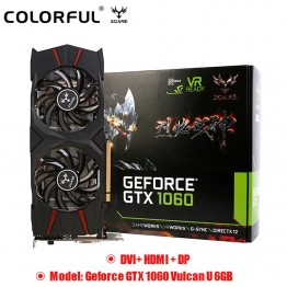 US $387.04 |Original Colorful GeForce IGame GTX 1060 Vulcan U 6GB Video Graphics Card 192bit GDDR5 PCI E X16 3.0 DVI+ HDMI + DP Dual Fans-in Graphics Cards from Computer & Office on Aliexpress.com | Alibaba Group