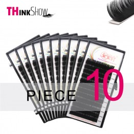 US $17.49 30% OFF|Thinkshow 10pcs/lot B/C/D Curl 12Lines Eyelash Extension Individual 3D Russia Silk Volume Eyelash Extension Natural Long Lash-in False Eyelashes from Beauty & Health on Aliexpress.com | Alibaba Group