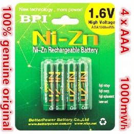 512.8 руб.  4 шт./лот Оригинальный Новый BPI AAA 1000mWh 1,6 V 1,5 V NI Zn NI Zn NIZN aaa низкая саморазрядная аккумуляторная батарея 1,6 V-in Подзаряжаемые батареи from Бытовая электроника on Aliexpress.com   Alibaba Group