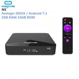 2168.87 руб. 20% СКИДКА ТВ бокс MAGICSEE N5 Android tv Box OS Amlogic S905X Android 7.1.2 2 Гб ram 16 Гб rom 2,4G 5G WiFi 100 Мбит/с BT4.1 поддержка 4 K H.265-in ТВ-приставки from Бытовая электроника on Aliexpress.com   Alibaba Group