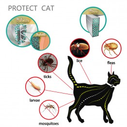 US $4.3 32% OFF|Hot Sale Cat Collar Tick Flea Anti Insect Mosquitoes Waterproof Adjustable 8 Months Protection-in Cat Collars & Leads from Home & Garden on Aliexpress.com | Alibaba Group