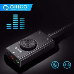591.03 руб. 40% СКИДКА|ORICO Внешний USB звуковая карта микрофонный адаптер Динамик 3,5 мм стерео с разъемом кабельная гарнитура регулировки громкости Бесплатная диск для ПК on Aliexpress.com | Alibaba Group