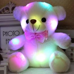US $4.67 45% OFF دروبشيبينغ 20 سنتيمتر ملونة متوهجة مضيئة الإضاءة محشوة الدب تيدي بير القطيفة الطفل اللعب هدايا جميلة للأطفال-في حيوانات قطيفة ومحشوة من الألعاب والهوايات على Aliexpress.com   مجموعة Alibaba