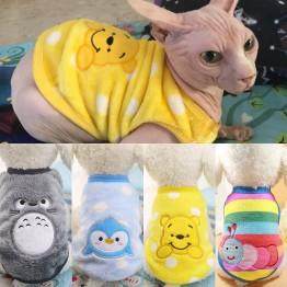 € 1.35 25% de DESCUENTO|Ropa cálida de gato Otoño Invierno ropa para mascotas para gatos pequeños perros dibujos animados gato disfraces suave polar gatito Kitty abrigo chaqueta traje-in Ropa para gatos from Hogar y jardín on Aliexpress.com | Alibaba Group