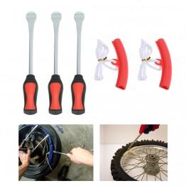 1130.78 руб. 32% СКИДКА|3 шиномонтажный инструмент ложка + 2 обод колеса форма для пиццы комплект для шины для мотоцикла, велосипеда изменение удаления-in Инструменты для ремонта шин from Автомобили и мотоциклы on Aliexpress.com | Alibaba Group