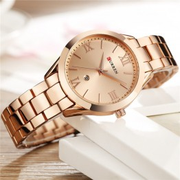 US $16.07 47% OFF|CURREN Women Watches Top Brand Luxury Gold Ladies Watch Stainless Steel Band Classic Bracelet Female Clock Relogio Feminino 9007-in Women's Watches from Watches on Aliexpress.com | Alibaba Group