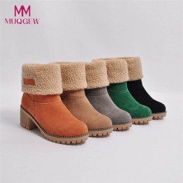 US $9.01 45% OFF|Hot sale zapatos de hombre boots Women's Ladies Winter Shoes Flock Warm Boots casual  Snow Boots Short Bootie shoes botas mujer-in Ankle Boots from Shoes on Aliexpress.com | Alibaba Group