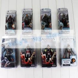 Лидер продаж Assassin's Creed ПВХ Рисунок черный флаг Коннор Haytham Kenway Altair Эцио Мастер игрушка Assassin купить на AliExpress