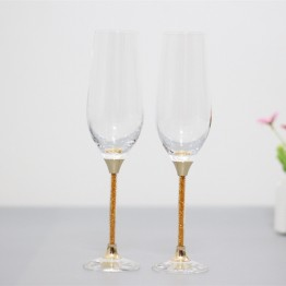 US $25.02 35% OFF|wedding toasting wine glasses crystal goblet gifts drinking glasses set gold color stem-in Champagne Coupes from Home & Garden on Aliexpress.com | Alibaba Group