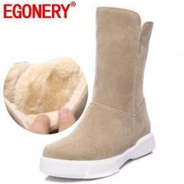 1462.66 руб. 48% СКИДКА|EGONERY/Женская обувь; зимние сапоги; женская теплая обувь с круглым носком на низком каблуке в простом стиле; зимние женские сапоги до середины икры с плюшевой подкладкой-in Теплые сапоги from Туфли on Aliexpress.com | Alibaba Group