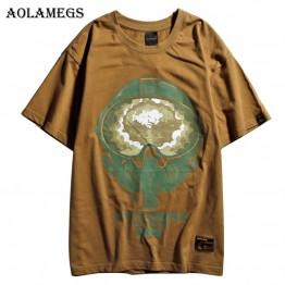 1808.46 руб. |Aolamegs футболка для мужчин Harajuku Big Bang печатных мужчин's футболки с круглым вырезом Футболка Свободные Хлопок High Street футболки для пары уличная купить на AliExpress