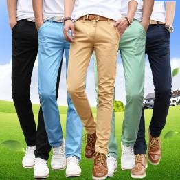 920.41 руб. |Весна осень мужчин в тонком стиле прямые длинные штаны молодых мужчин повседневные красивые длинные штаны-in Повседневные брюки from Мужская одежда on Aliexpress.com | Alibaba Group
