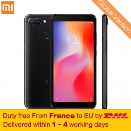 7849.01 руб. |Tax Free! Глобальная версия Xiaomi Redmi 6 3 ГБ 32 ГБ смартфон МТК Helio P22 Octa Core 5,45