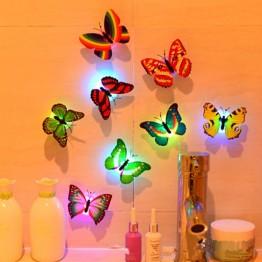 63.78 руб.  Красочные светящиеся бабочки СВЕТОДИОДНЫЙ ночник свадебные декоративные наклейки для фар детские маленькие подарки игрушки игровая батарея работает-in Светящиеся игрушки from Игрушки и хобби on Aliexpress.com   Alibaba Group