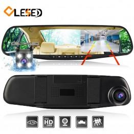 1352.45 руб. 67% СКИДКА|Dash cam зеркало dash cam era две камеры объектив Автомобильный dvr с двумя камерами заднего вида dashcam full hd видео рекордер передний и задний купить на AliExpress
