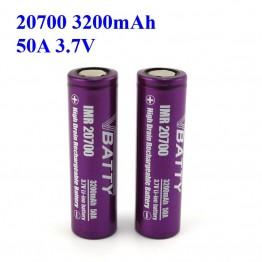 385.95 руб. 20% СКИДКА|Лучшая 20700 батарея для vaping дешевая цена и высокое качество Vbatty 20700 батарея 3,7 V 20700 батарея безопасность 3200 mah 50A (1 шт)-in Подзаряжаемые батареи from Бытовая электроника on Aliexpress.com | Alibaba Group
