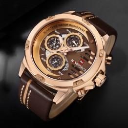 2993.97 руб. |Часы для мужчин часы лучший бренд класса люкс мужской спортивный хронограф часы для мужчин кожа водостойкие кварцевые часы Человек наручные часы 2018 купить на AliExpress