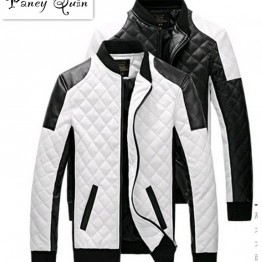 US $27.83  men Leather Jackets coats autumn black white lattice men Leather Jaquetas Jackets coat  Winter Leather Suede basic Jacket-in Jackets from Men's Clothing on Aliexpress.com   Alibaba Group
