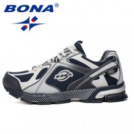 BONA/Новинка 2019 года; дизайнерские Популярные кроссовки; Мужская обувь из сетчатого материала; легкая дышащая мужская повседневная теннисная...