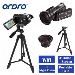 7099.59 руб. 46% СКИДКА ORDRO HDV D395 портативные камеры регистраторы Ночное видение Full HD 1080p 18X3,0