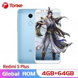 11257.84 руб.  Оригинальный Xiaomi Redmi 5 Plus 4G ram 64 GB rom 4000 mAh Snapdragon 625 Octa Core 5,99