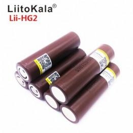 Аккумулятор LiitoKala Lii-HG2 18650 3000 мАч, высокий разряд, высокий ток 30А, перезаряжаемая батарея, 2019