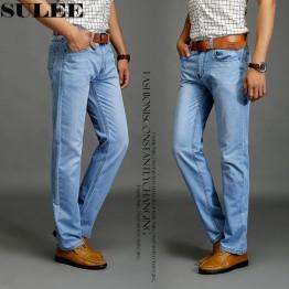 1016.39 руб. 9% СКИДКА Бренд sulee 2019 новые модные мужские повседневные тонкие и легкие узкие джинсы брюки плотные брюки однотонные-in Джинсы from Мужская одежда on Aliexpress.com   Alibaba Group