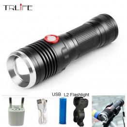 753.93 руб. 20% СКИДКА|8000LM USB светодио дный тактический фонарь L2 фонарик Алюминий факел Мощность напоминание вспышки света Кемпинг лампы с кабелем USB купить на AliExpress