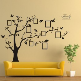 US $3.87 15% OFF Family Photo Frame Tree Wall Stickers DIY Wall Quote Art Stickers PVC Decals DIY wallpaper Home Living Room Decor Vinyl sticker-in Wall Stickers from Home & Garden on Aliexpress.com   Alibaba Group