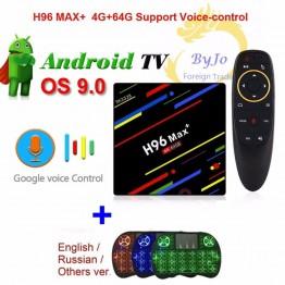 2579.1 руб. 30% СКИДКА|Новейший H96 Max + Android 9,0 WiFi 2,4 г 5 г Android tv Box Top 4 г 64 г Голосовое управление 4 к коробка набор верхней коробки H96 MAX Plus-in ТВ-приставки from Бытовая электроника on Aliexpress.com | Alibaba Group