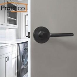 Probrico межкомнатные деревянные дверные ручки без ключа проходные черные ручки бесшумные передние задние рычаги с защелкой современная кухон...