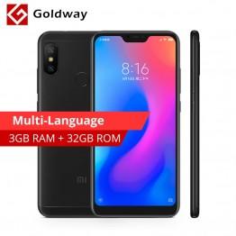 8961.04 руб. |Оригинальный Xiaomi Redmi 6 Pro мобильный телефон 3 ГБ оперативная память 32 Встроенная Snapdragon 625 Octa Core 5,84