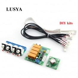 548.96 руб. 34% СКИДКА|Lusya реле 4 двухстороннее аудио Вход сигнала Селекторное переключение RCA аудио переключатель Вход выбор доска