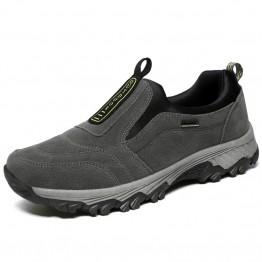 1899.4 руб. 30% СКИДКА|Мужская кожаная обувь без шнуровки для прогулок и походов, замшевые спортивные кроссовки, мужская обувь для альпинизма купить на AliExpress