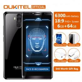 16352.8 руб.  Оригинальный Oukitel K6 Face ID смартфон 6300 мАч 6,0