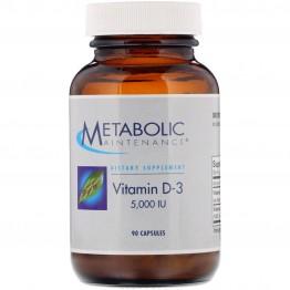 Metabolic Maintenance, Vitamin D-3, 5,000 IU, 90 Capsules