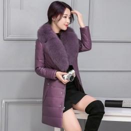Осенне зимняя обувь новая одежда плюс размер пальто куртки пальто с мехом большой меховой воротник Nagymaros Женские однотонные Длинные теплые парки MZ1043 купить на AliExpress