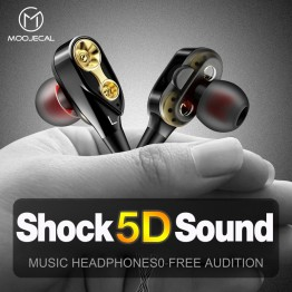 US $3.01 27% OFF|MOOJECAL Dual Driver Earphones In Ear Stereo Bass earphones Sport Running HIFI Earbuds For xiaomi fone de ouvido auriculares Mp3-in Phone Earphones & Headphones from Consumer Electronics on Aliexpress.com | Alibaba Group
