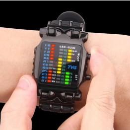 849.73 руб.  2018 новый бренд tvg резиновый ремешок водонепроницаемый крутой geek светодиодный цифровые спортивные часы черные мужские роскошные модные часы с бинарным подарком-in Цифровые часы from Ручные часы on Aliexpress.com   Alibaba Group
