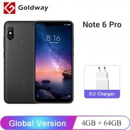 11043.51 руб. |Смартфон Xiaomi Redmi Note 6 Pro с глобальной версией, 4 ГБ, 64 ГБ, Восьмиядерный процессор Snapdragon 636 6,26 дюйма, двойная камера с полным экраном 4000 мАч-in Мобильные телефоны from Мобильные телефоны и телекоммуникации on Aliexpress.com | Alibaba Group