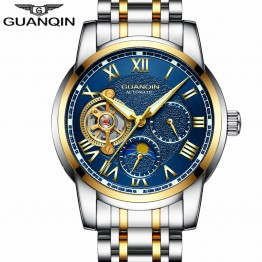 US $65.99 48% OFF|Relogio Masculino GUANQIN Brand Luxury Tourbillon Skeleton Watch Men Sport Full Steel Waterproof Automatic Mechanical Wristwatch-in Mechanical Watches from Watches on Aliexpress.com | Alibaba Group