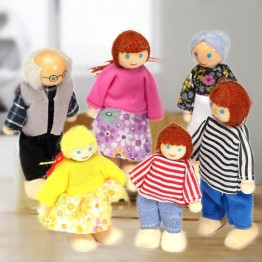 US $5.25 |Happy Dollhouse Family Dolls Small Wooden Toy Set Figures Dressed Characters Children Kids Playing Doll Gift Kids Pretend Toys-in Dolls from Toys & Hobbies on Aliexpress.com | Alibaba Group